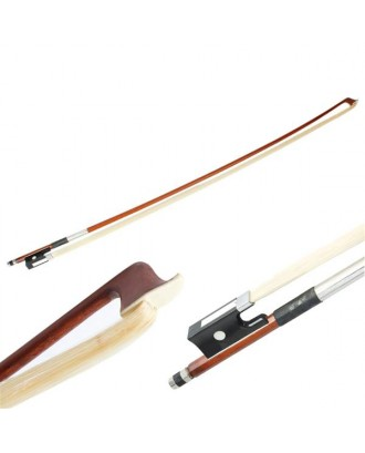4/4 High Quality Arbor Violin Bow with Black Handle Brown
