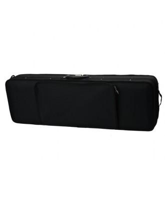 Fashion Square Shape Nylon Voilin Bag Black