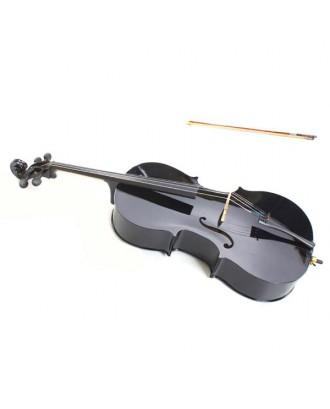 4/4 Wood Cello   Bag   Bow   Rosin   Bridge Black
