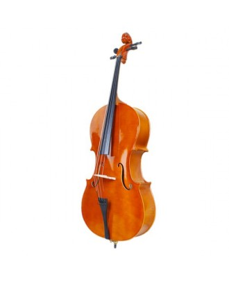 4/4 Wood Cello   Bag   Bow   Rosin   Bridge Natural
