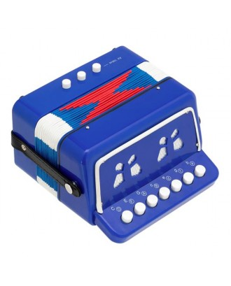 7-Key 2 Bass Kids Accordion Children's Mini Musical Instrument Easy to Learn Music Blue