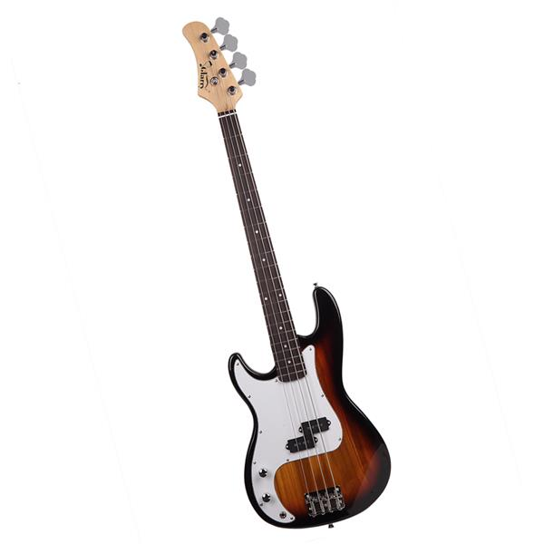 Electric Bass Guitar Glarry GP Flame Left-Hand HSH Pickup Shaped Electric Guitar Pack Strap Picks Shake Cable Cord Wrench Tool Burlywood Sunset Color Black Black